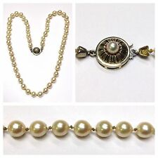 Beautiful Bead Chain Pearl Collier Akoya Pearls 585 goldverschluß Gold