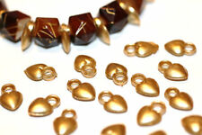 100pc Assorted 13mm Brass heart Charms 1-3 day Shipping