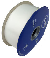 "FLORIST POLY TEAR RIBBON - 100 YARDS - 2"" WIDE - WHITE"