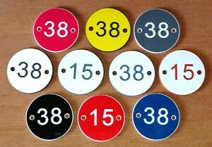 Table number discs variuos colours acrylic plaques