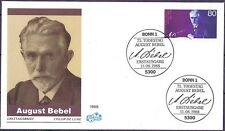 BRD 1988: August Bebel! FIDACOS FDC der Nr. 1382 mit Bonner Sonderstempeln! 1806