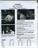 NEWLY REVISED Star Trek TWOK - DS9 Shirt Pattern:  P-XX   PTN-004