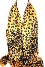 Brown Leopard Print Pashmina Feel Wrap Scarf Stole Shawl Hijab