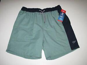 Speedo Brand Men's L Board Shorts Mesh Lined Trunks Swim Oil Blue Green NWT
