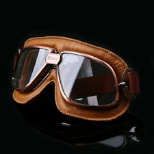 New PU Leather Vintage Goggles Aviator Pilot Retro Flying Eyewear Copper Adult