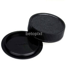 Rear lens + Body Cap Cover for M42 42mm Screw Mount Camera & Lens Black FR