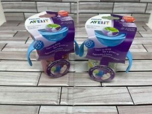 (2) Philips Avent Natural Drinking Cup 9 oz 12m+ Double Handled