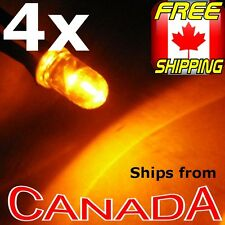 4x ORANGE 5mm Single LED, pre-wired for 12v, Car/Truck/Bike
