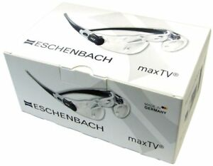 Loupe type of Glasses Magnification 2.1 times Clear ESCHENBACH maxTV Germany