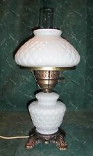 "Lamp, 17-1/2"" High, Quilted Diamond, Glass, HEDCO Base"