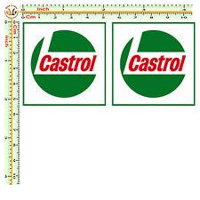 Adesivi CASTROL sticker cropped auto moto decal helmet tuning print pvc 2 pz.