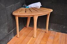 Grade-A Teak Bath Corner Seat Shower Bench Stool W/ Basket Spa Outdoor Garden