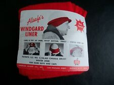 4 Windgard Liner Red Allsafe Products Safety Winter Liners, Hard Hats , unused