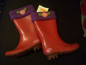 SUPER RARE Girl's Vintage Barbie Wellington Boots 2005 Size 12 Retro New