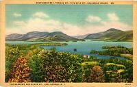 Vintage Postcard - 1939 Sagamore Island Lake George New York City NY #4276