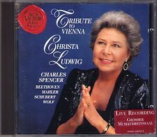 Christa LUDWIG: TRIBUTE TO VIENNA Schubert Mahler Wolf Beethoven Charles SPENCER