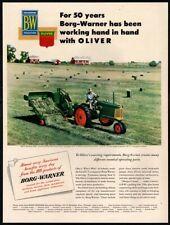 1951 BORG-WARNER - Oliver Automatic Hay Baler - Agriculture -  VINTAGE AD