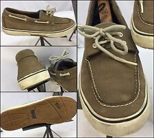 Sperry Top Sider Main Sail Boat Shoes 13 Men Brown Leather EUC YGI M6-72