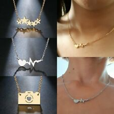 Fashion Stainless Steel Necklace Star Camera Heart Pendant Sweeter Chain Jewelry