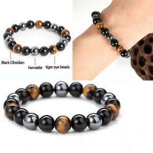 Handmade Energy Natural Gemstone Round Beads Stretchy Bracelet Reiki Chakra