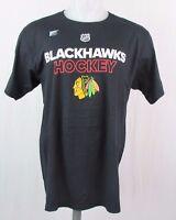 Chicago Blackhawks NHL Men's adidas Short Sleeve Black Tee