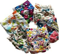 Washable Reusable Bamboo Cloth Pocket Diaper With insert Set of 6 + Accessories