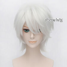 DRAMAtical Murder DMMd Clear Silver White Layered Anime Cosplay Wig + Wig Cap