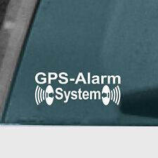 Aufkleber Tattoo GPS Alarm System weiß Auto Schaufenster Außen getönte Scheibe