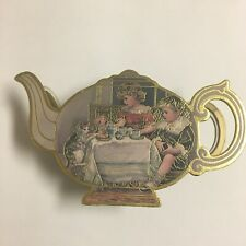 Vintage Tea Set & Box Pussy To Tea 1988 Shackman Co in excellent condition