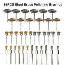 27x Brass Brush Wire Wheel Brushes Die Grinder Rotary Electric Polishing Tool NE