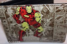 IRON MAN STOMP! bi fold wallet X-Men deadpool Marvel Comics US Seller avengers