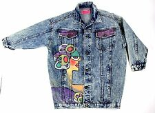 Punk Graffiti 80's Hand Painted Vintage Jacket M Movie Tv Prop Folk Art HipHop