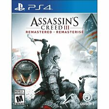 NEW PS4 Assassin's Creed III 3: Remastered (HK, Chinese/ English) - with DLC