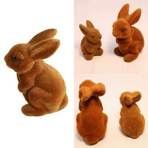 Artificial Rabbit Easter Bunny Furry Animal Spring Figurine Best Gift
