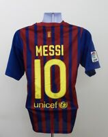 Lionel Messi #10 FC Barcelona Nike Home Football Shirt Jersey 2011-2012 (S)