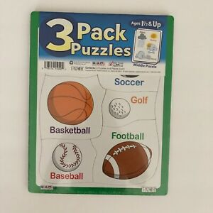 PUZZLE pack of 3 for Ages 18 months and OLDER Large Pieces   NEW Sealed