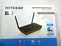 NETGEAR D1500 N300 WiFi Wireless Modem Router Essential Ed ADSL & Ethernet WAN