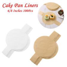 100Pcs Precut Circle Cake Pan Liners Non-stick Parchment Tabs Paper For Baking