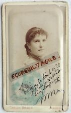 CDV PHOTO CARLOS BRAUN AVIGNON institutrice tampon Académie de Grenoble G597