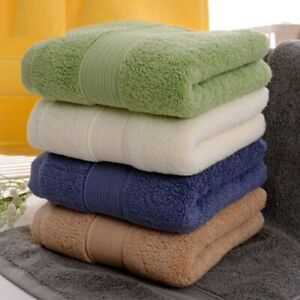 Cotton Face Towel Solid Color Sports Yarn Dyed Bathroom Bath Sheets 36X76cm