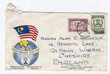 MALAYA: 1960 World Refugee Year First Day cover (C25316)