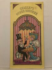 1960's 1970's Charley's Other Brother Restaurant Dinner Menu Mt Mount Holly Nj
