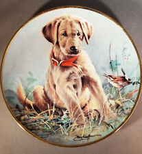 Vintage Franklin Mint Eye to Eye Ltd Ed Plate Golden Retriever Pup-James Killen