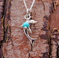 """Sterling Silver 925 Dolphin Pendant 18"""" Chain Necklace Pure Origins Sea Gems"""