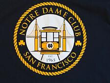 EUC Notre Dame Club San Francisco -SFND- Navy Blue T shirt, MED  - university