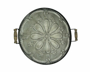28 Inch Galvanized Metal Decorative Serving Tray Wall Art Rustic Home Decor