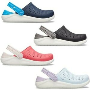 Crocs LiteRide Kids Clogs Shoes Relaxed Fit Sandals in Blue Black & Pink