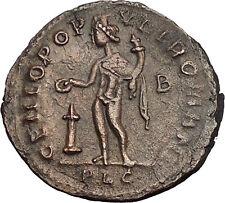 DIOCLETIAN 303AD Lugdunum mint Ancient  Roman Coin Genius Protection Cult i51150