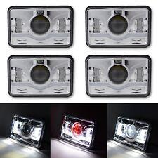 4X6 Chrome White LED Octane DRL Light Clear Sealed Beam Headlamp Headlight Set