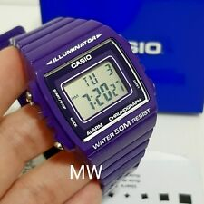 Casio Purple Resin Digital Alarm Sport Men Ladies Unisex Watch W215H W-215H-6A
